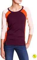 Banana Republic Factory Colorblock Sweater  Purple Fig - Lyst