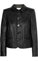 Saint Laurent Coated Cottonblend Tweed Jacket - Lyst