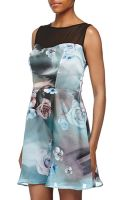 Glamorous Floral Print Fitandflare Charmeuse Dress - Lyst