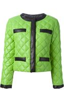 Moschino Cheap & Chic Quilted Twotone Jacket - Lyst