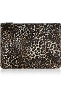 The Case Factory Leopardprint Calf Hair Pouch - Lyst