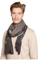 Etro Houndstooth Modal Cashmere Scarf - Lyst