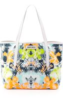 Jimmy Choo Sara Orchidprint Tote Bag - Lyst