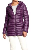Old Navy Long Quilted Nylon Jackets - Lyst