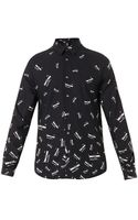 McQ by Alexander McQueen Razorprint Cotton Shirt - Lyst