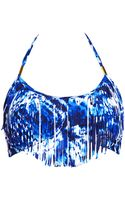 Forever 21 Watercolor Fringed Bandeau - Lyst
