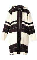 Isabel Marant Adil Striped Blanket Coat - Lyst