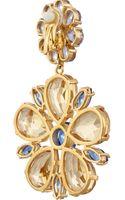 Dolce & Gabbana Fiori Gold-plated Swarovski Crystal Clip Earrings - Lyst