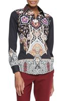 Etro Cotton Long-sleeve Shirt - Lyst