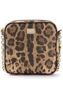 Dolce & Gabbana Leopard Print Mini Shoulder Bag - Lyst