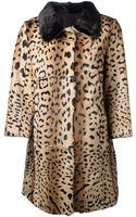 S.w.o.r.d Leopard Print Coat - Lyst