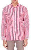 Ralph Lauren Striped Cotton-blend Shirt - Lyst