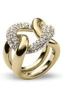 Michael Kors Pave Curb Link Statement Ring - Lyst