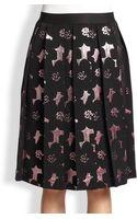 Rachel Comey Rakisk Metallic Jacquard Pleated Skirt - Lyst