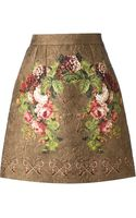Dolce & Gabbana Patterned Floral Print Skirt - Lyst