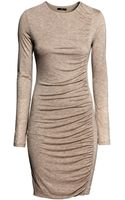H&M Draped Dress - Lyst