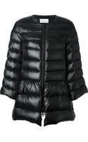 RED Valentino Peplum Hem Padded Coat - Lyst