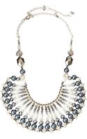 Nakamol Crystal and Pearl Bib Necklace Gray Mix - Lyst