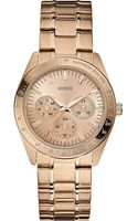 Guess Chase Stainless Steel Watch Gold - Lyst