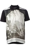 Dolce & Gabbana Ancient Ruins Print Polo Shirt - Lyst