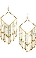 Nakamol Chevronbeaded Chain Fringe Earrings - Lyst