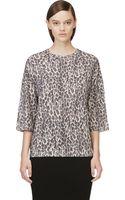Giambattista Valli Black Leopard Cashmere Sweater - Lyst