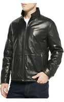 Andrew Marc Glove Leather Zip-front Jacket - Lyst