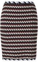 Christopher Kane All Over Rope Skirt in Burgundy and White - Lyst