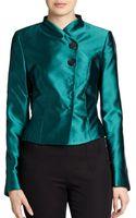 Pauw Metallic Silk Fitted Jacket - Lyst