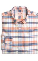 Brooks Brothers Orange and Yellow Multiplaid Oxford Sport Shirt - Lyst