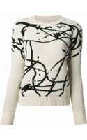Carven Knitted Sweater - Lyst