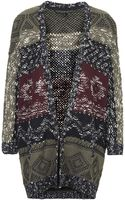 Topshop Womens Petite Patterned Slouchy Cardigan Multi - Lyst