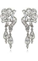 Ben-amun Bridal Crystal Double Drop Earrings - Lyst