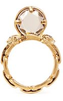 Alexander McQueen Spinal Cord Crystal Ring - Lyst