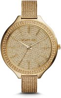Michael Kors Slim Runway Paveembellished Goldtone Watch - Lyst