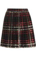 Saint Laurent Sequin Pleated Skirt - Lyst