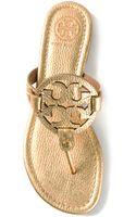 Tory Burch Logo Sandal - Lyst