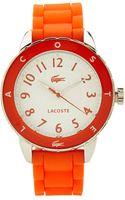 Lacoste Orange  Silver-tone Ladies Watch - Lyst