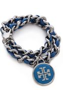 Tory Burch Leather Chain Wrap Bracelet - Lyst