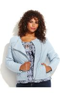 Inc International Concepts Plus Size Quilted Fauxleather Moto Jacket - Lyst