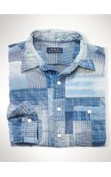 Polo Ralph Lauren Patchwork Chambray Shirt - Lyst