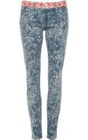 Mother Denim The Looker Printed Skinny Jeans - Lyst