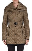 Laundry By Shelli Segal Diamond Quilted Long Jacket - Lyst