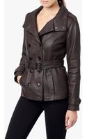 7 For All Mankind Lamb Nappa Trench Coat - Lyst