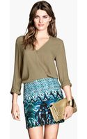 H&M Woven Skirt - Lyst