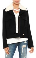 Smythe Watch Jacket with Detachable Faux Shearling Collar - Lyst