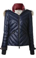 Moncler Grenoble Racoon Fur Trimmed Padded Jacket - Lyst