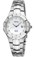 Seiko Womens Coutura Solar Diamond Accent Stainless Steel Bracelet Watch 29mm Sut125 - Lyst