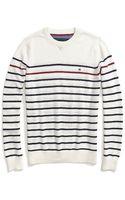 Tommy Hilfiger Stripe Crew Neck Sweater - Lyst