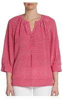 Joie Izzy Printed Silk Blouse - Lyst